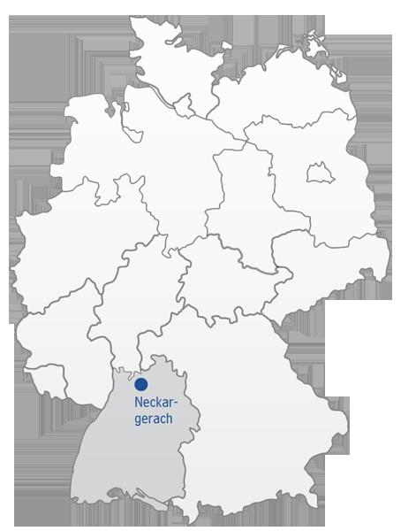 heilbronn deutschlandkarte Gemeinde Neckargerach | Anfahrt |